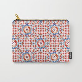 Gingham Folkloric Carry-All Pouch