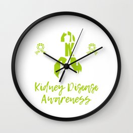 His Fight Is My Fight Kidney Disease Raise Awareness Support On Kidney Disease Fighter T-shirt Wall Clock