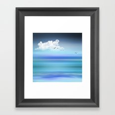BLUE WATERS Framed Art Print