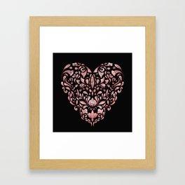 Ornate Heart Framed Art Print