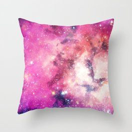 Pink Space Throw Pillow