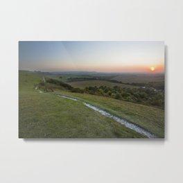 Dunstable Downs Sunset Metal Print