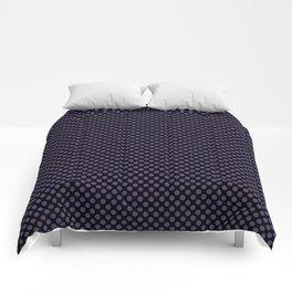 Black and Gentian Violet Polka Dots Comforters