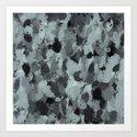 Black and Smokey Blue Pastels 3216 by celestesheffey