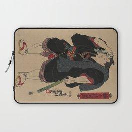Sumo Wrestler Japanese Woodcut Block Print Laptop Sleeve