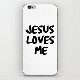Jesus loves me iPhone Skin