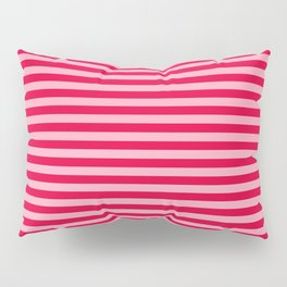 Retro, Beach, Colorful Stripes, Pink and Red Pillow Sham