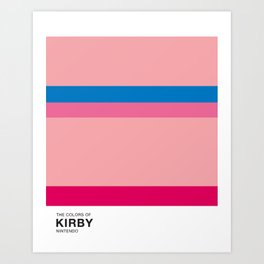 The Colors of Kirby Art Print