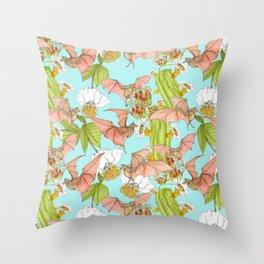 Agave Bats Throw Pillow