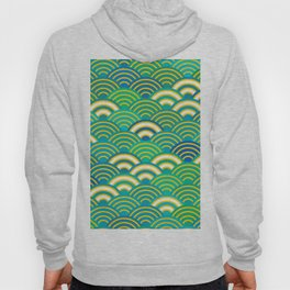 abstract scales simple Spring Nature background with japanese circle Hoody