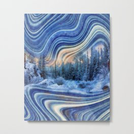 Surreal winter forest Metal Print