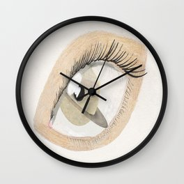 The Eye Sees Saturn Wall Clock