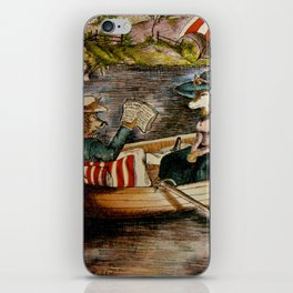 The Courting of Miss Fox iPhone Skin