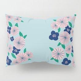 Oriental vintage Flower Pillow Sham