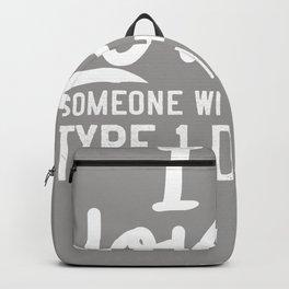T1D Type 1 Diabetes Gift Diabetic Awareness Backpack