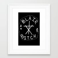 blair waldorf Framed Art Prints featuring Blair BITCH by Saturos