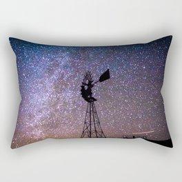 Windmill at Night Rectangular Pillow