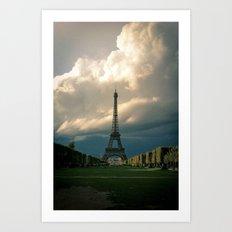 Paris, the Eiffel Tower in November Art Print