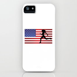USA Artificial Limbs Track Runner With Disabilities Adaptive Sports Gift Design iPhone Case