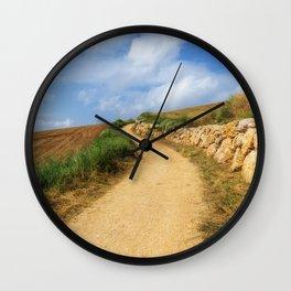 The Camino de Santiago as it passes through Navarra, Spain Wall Clock