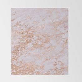 Pastel Lavender Marble Rosegold Glitter Pink Throw Blanket