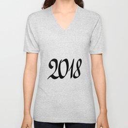 2018 New Year Unisex V-Neck