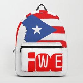 WEPA Puerto Rican Flag Gift for Men & Women Backpack