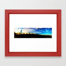 Chicago's Painted Sky Framed Art Print