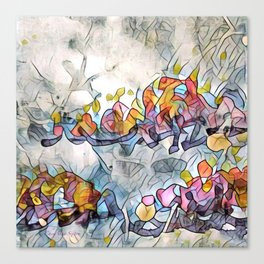 Splashes Of Stained Glass by CheyAnne Sexton Canvas Print