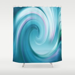 Blue wave 209 Shower Curtain