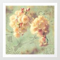 postcard Art Prints featuring Postcard by AlejandraClick