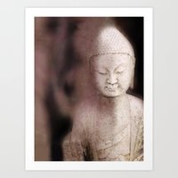 buddah Art Prints featuring Buddah 1 by Linda K. Photography & Design