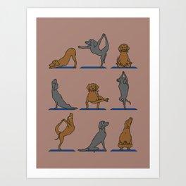 Vizsla Yoga Art Print