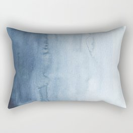 Indigo Abstract Painting | No. 5 Rectangular Pillow