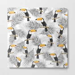 Toucan with palm leaves Metal Print