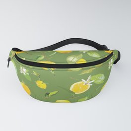 Watercolor Lemon & Leaves 5 Fanny Pack