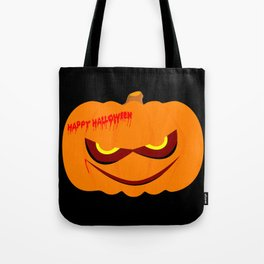 Evil Halloween Pumpkin Tote Bag