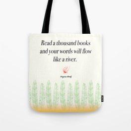 Virginia Woolf Book Quote Tote Bag