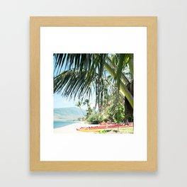 Aloha Sugar Beach Framed Art Print