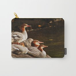 Common Merganser Family Carry-All Pouch