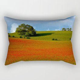 Poppy Field in Evening Light Rectangular Pillow