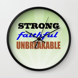 Strong Faithful Unbreakable Wall Clock