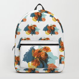 Splatter koi fish Backpack