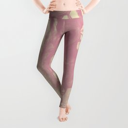 Beneath Broken Earth: Pink Shadow (lady portrait with autumn leaves) Leggings