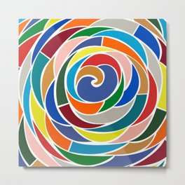 Swirling Metal Print