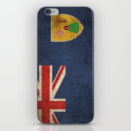 Old and Worn Distressed Vintage Flag of Turks and Caicos iPhone Skin