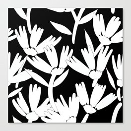 Big daisy black and white Canvas Print