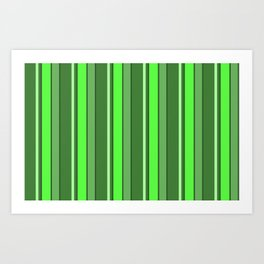Stripes Forest Green 2019 112020 Art Print