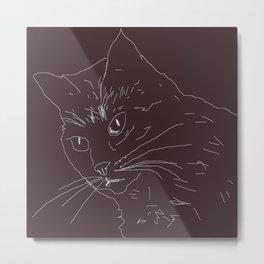 cat design Metal Print