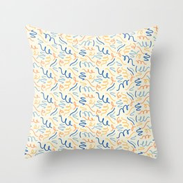 Squiggles & Curly Cues Throw Pillow